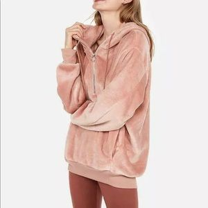 Express One Eleven Velour Hoodie